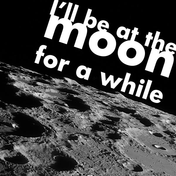 Canvas tekst moon